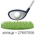 ゴルフボールとティーのイメージイラスト 27607056