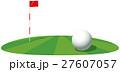 ゴルフボールとピンのイメージイラスト 27607057