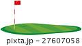 ゴルフ場 グリーンのイメージイラスト 27607058