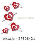 ハート 羽 バレンタインのイラスト 27608421
