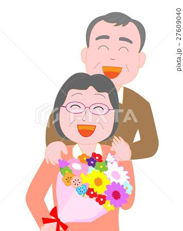 妻へ感謝の花束を贈る 27609040