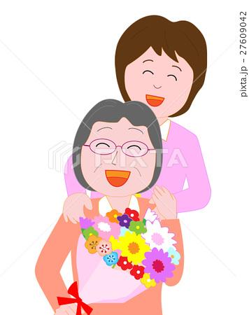 母へ感謝の花束を贈る 27609042