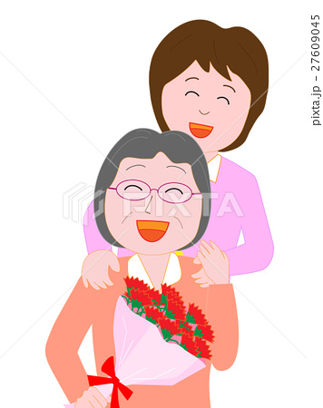 母へ感謝の花束を贈る 27609045