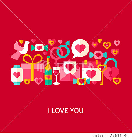 i love you greetings conceptのイラスト素材 27611440 pixta