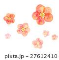 梅の花 梅花 紅梅のイラスト 27612410