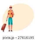 Young bald man in sunglasses and havaii shirt with 27616195