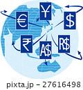 ベクター 世界地図 外貨のイラスト 27616498