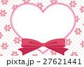 ハート リボン 花のイラスト 27621441