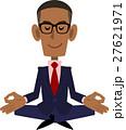 ビジネスマン 座禅 瞑想のイラスト 27621971