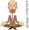 座禅を組む年配のビジネスマン 27621973