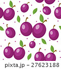 Plums seamless pattern. Plum endless background 27623188