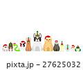 クリスマスのペットたちのボーダー 27625032