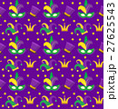 Mardi Gras Carnival seamless pattern with mask 27625543