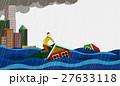増水 あふれる 浸水のイラスト 27633118