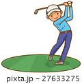 ゴルフショット 男性のイメージイラスト 27633275