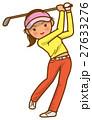 ゴルフスイング 女性のイメージイラスト 27633276