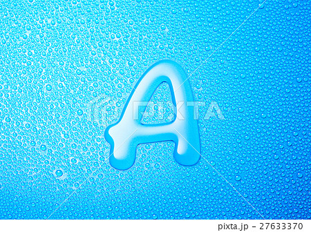 A  アルファベット 水 文字 27633370
