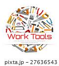 Work tools poster of carpentry repair instruments 27636543