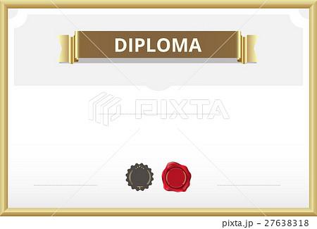 certificate border certificate template のイラスト素材 27638318