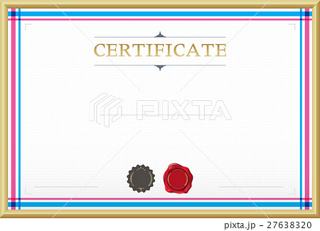certificate border certificate template のイラスト素材 27638320
