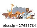 動物園 のぼり バナーのイラスト 27638784