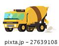 Concrete mixer truck. concrete machine truck. 27639108
