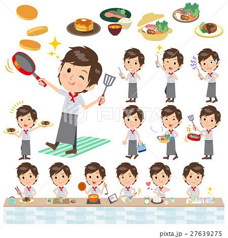 Western cuisine cook man cooking 27639275