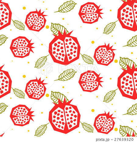 Pomegranate pattern. Seamless ornament. 27639320