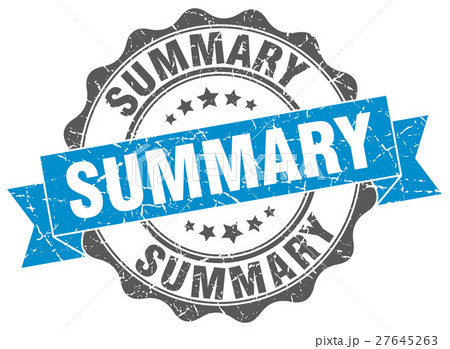 summary stamp. sign. seal 27645263