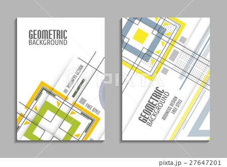 Set of business card. Abstract geometric design 27647201