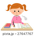女の子 勉強 学習のイラスト 27647767