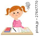 勉強する女の子,困る 27647770