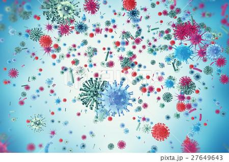 Viruses in infected organism, viral diseaseのイラスト素材 [27649643] - PIXTA