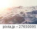 Sea, ocean wave close-up sunset, low angle view 27650095