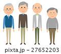 高齢者 男性 シニアのイラスト 27652203