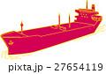 船 コンテナ船 線画のイラスト 27654119