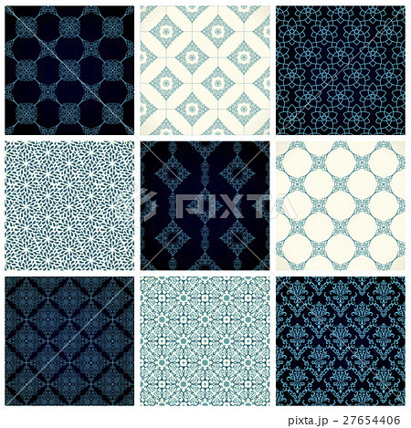 Vector seamless pattern set with art ornament forのイラスト素材 [27654406] - PIXTA
