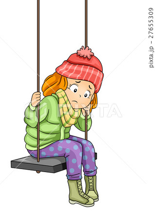 Kid Girl Sad Swing 27655309