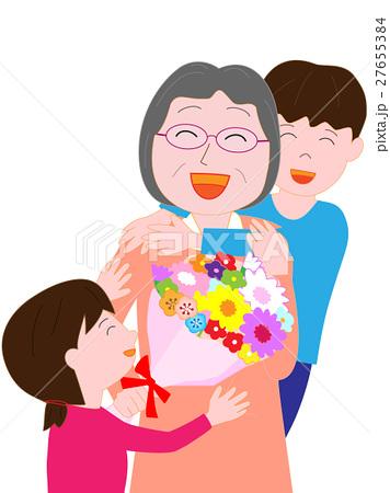 おばちゃんへお祝いの花束 27655384