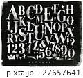 フォント 黒板 アルファベットのイラスト 27657641