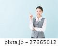 事務の女性(青背景) 27665012