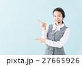 コールセンター 女性(青背景) 27665926