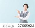 コールセンター 女性(青背景) 27665928