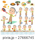 Green wear grandfather cooking 27666745