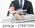ビジネスマン、情報管理、鍵、ロック 27667300