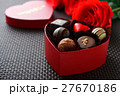 バレンタイン バレンタインデー チョコレートの写真 27670186