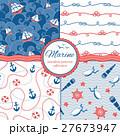 海 パターン 柄のイラスト 27673947