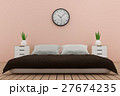 bedroom interior design in pink tone in 3D render 27674235