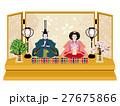 雛人形 親王飾り(木製) 27675866