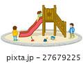滑り台で遊ぶ子供達 27679225